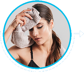 Wipe off excess sweat and keep your skin dry