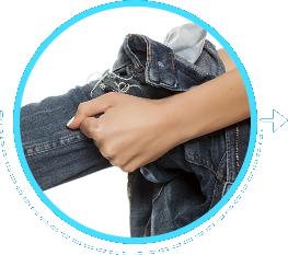 Avoid wearing tight clothing or footwear